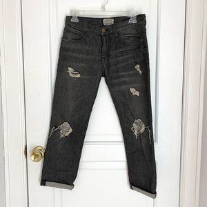 Current/Elliott Fling boyfriend distressed jeans